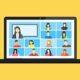 Laptop mit Online-Meeting